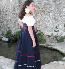 Falda de niña media capa y lazada  Ref. 86