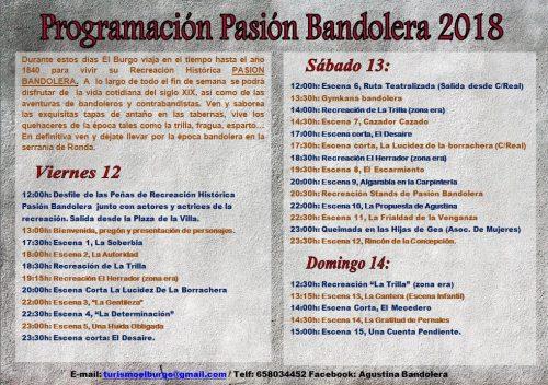 Programa Pasion Bandolera El Burgo 2018
