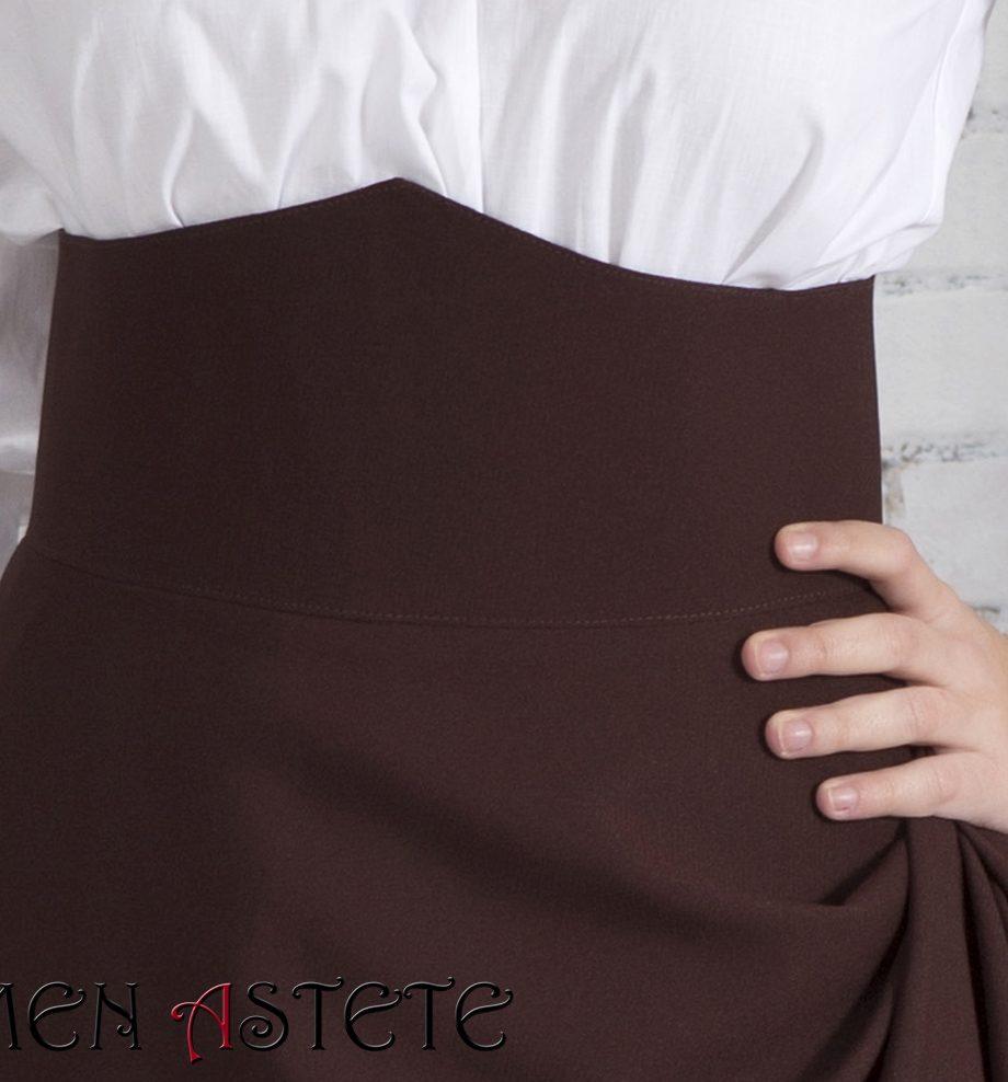 Falda básica I Marrón