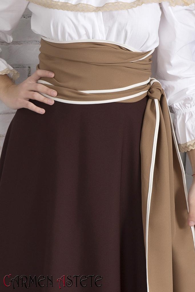 Falda básica II Marrón